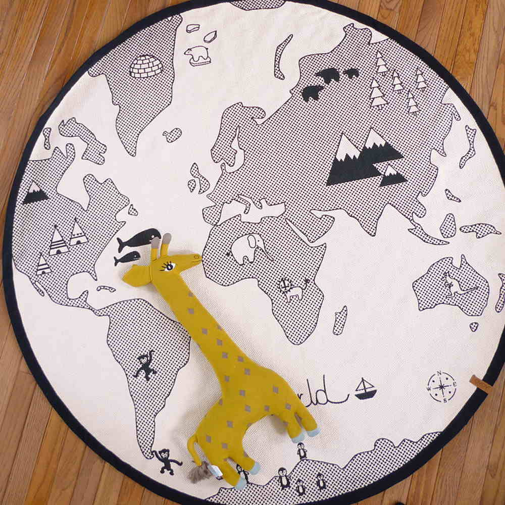 World Map Baby Rug: OYOY World Map Rug