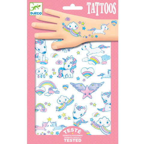 Djeco Temporary Tattoos, Unicorns