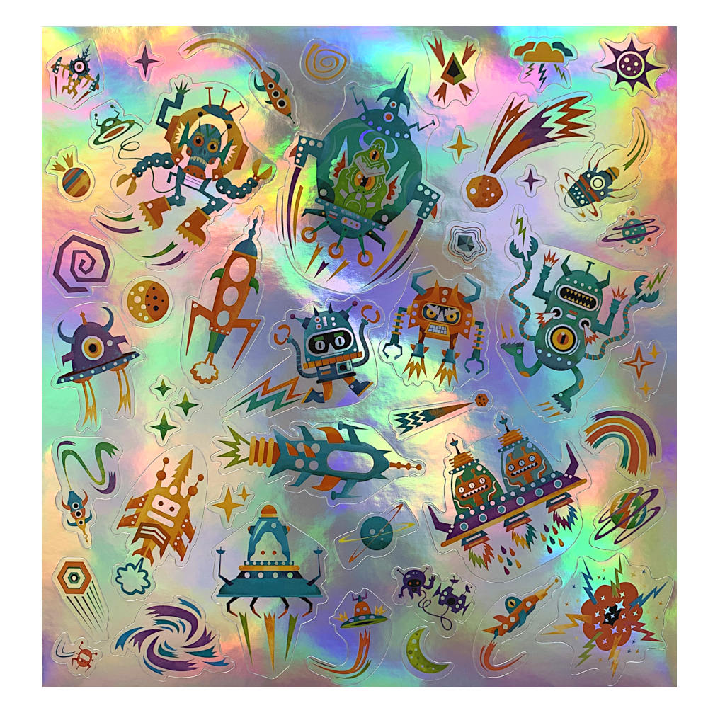 Djeco Holographic Stickers, Intergalactic