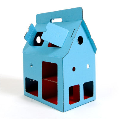 Mobilehome Blue, Cardboard Doll House