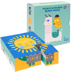 Petit Monkey Peanut & Friends Block Puzzle