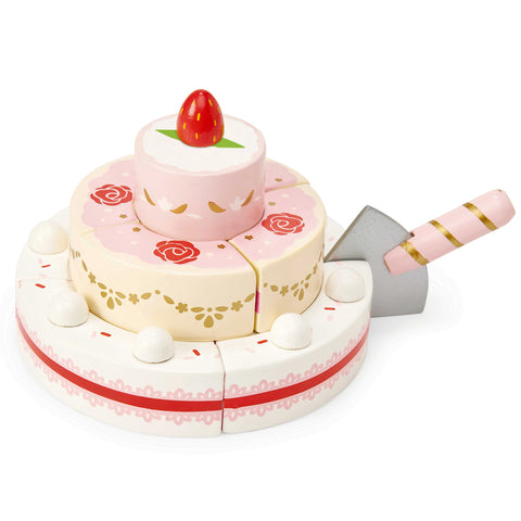 Le Toy Van Wooden Strawberry Wedding Cake