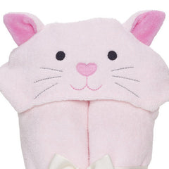 Baby Bath Wrap, Pink Kitty