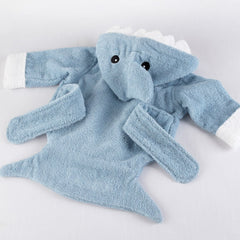 Terry Shark Bath Robe, Blue ( 0-9 months )