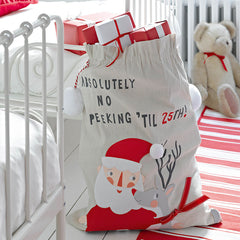 Waiting for Santa Christmas Sack