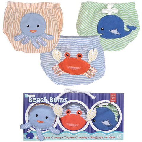 Under the Sea 3pcs Diaper Cover Set