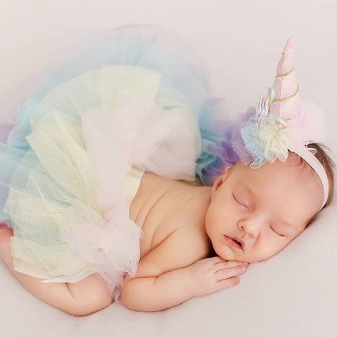 Unicorn Newborn Baby Girl Tutu 3pcs Set