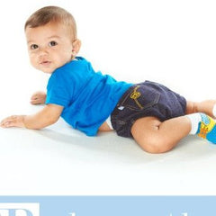 Jean Diaper Cover, Blue