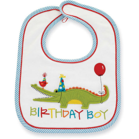 Birthday Alligator Bib