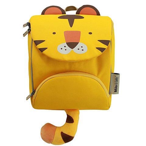 Milo & Gabby Toddler Backpack with Safety Strap, Tiger