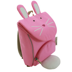 Milo & Gabby Toddler Backpack with Safety Strap, Rabbit