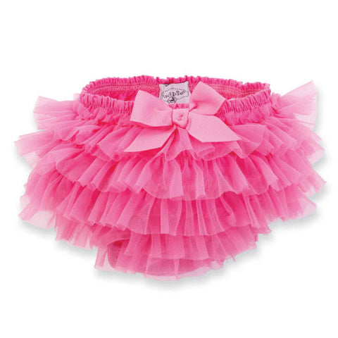 Hot Pink Chiffon Bloomer ( 12-18 months )