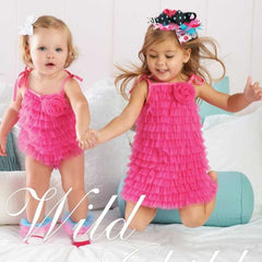 Hot Pink Chiffon Bubble ( 12-18 months )