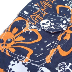 Monster Republic Hibiscus Skull Swim Shorts