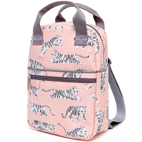 Petit Monkey Large Backpack, White Tiger
