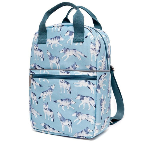 Petit Monkey Large Backpack, Wolves