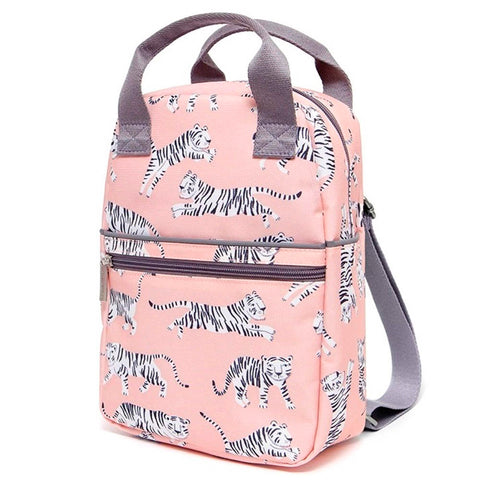 Petit Monkey Small Backpack, White Tiger