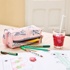 Petit Monkey Pencil Case, White Tiger