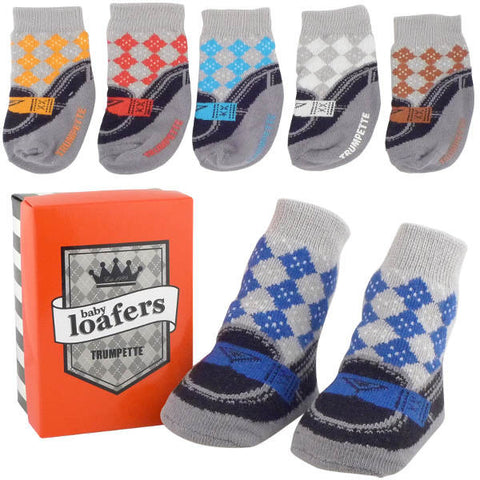 Trumpette Loafer's Baby Socks
