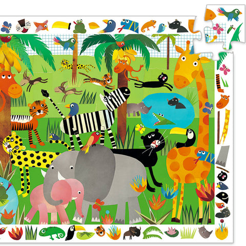 Djeco Search & Find Puzzle, Jungle (35pcs)