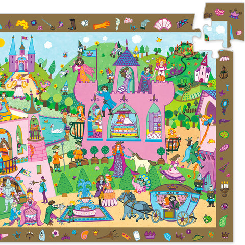 Djeco Search & Find Puzzle, Princess (54pcs)