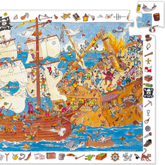 Djeco Search & Find Puzzle, Pirates (100pcs)