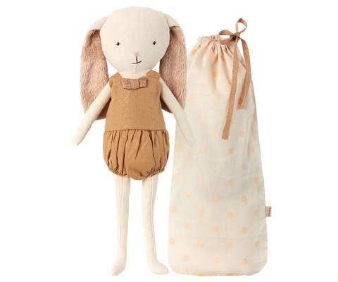 Maileg Bunny Belle in Bag, Gold