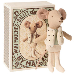 Maileg Little Brother Mouse in a Box, Dancer