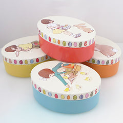 Bell & Boo Oval Tin Cases ( Set of 4 )