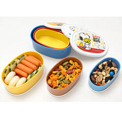 Snoopy 3pcs Oval Lunch Box Set, Charlie