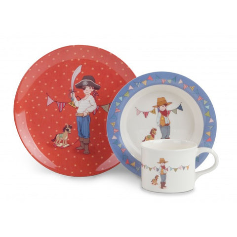 Belle & Boo Mealtime Set, Boy