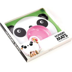 Hungry Panda Mat & Plate Set