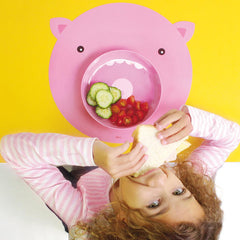 Hungry Pig Mat & Plate Set