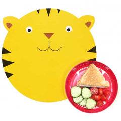 Hungry Tiger Mat & Plate Set