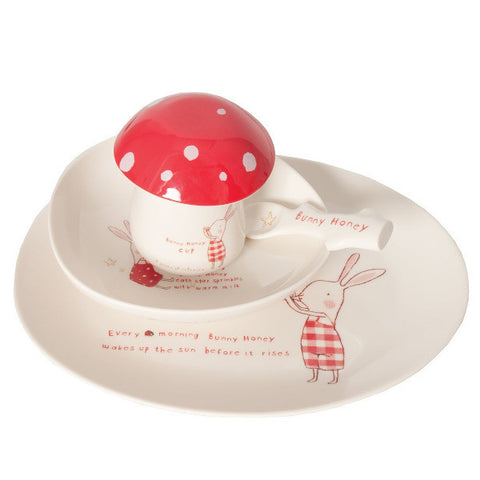 Maileg Bunny Honey Melamine Tableware Set