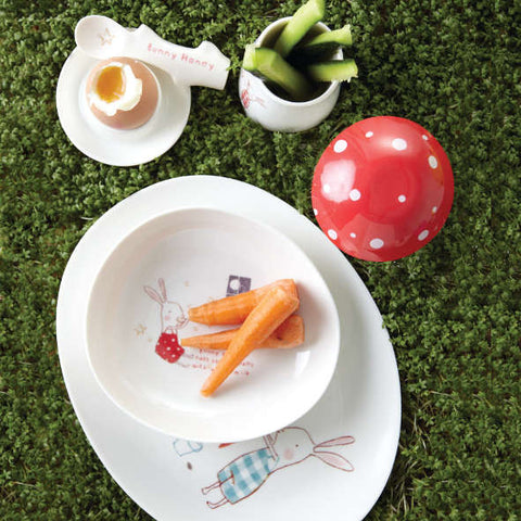 Maileg Bunny Green Melamine Tableware Set