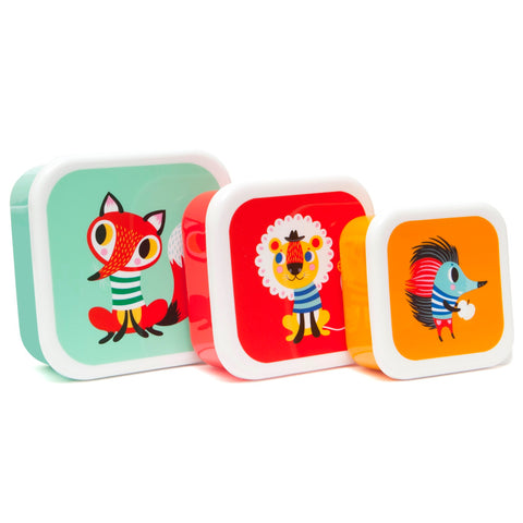 Petit Monkey Animal Friends 3pcs Lunch Box Set