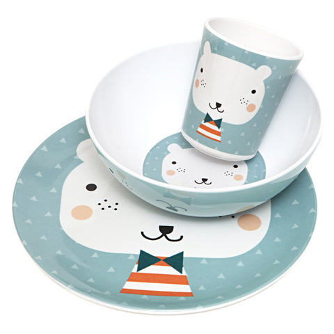 Petit Monkey Bear Triangle Melamine Tableware