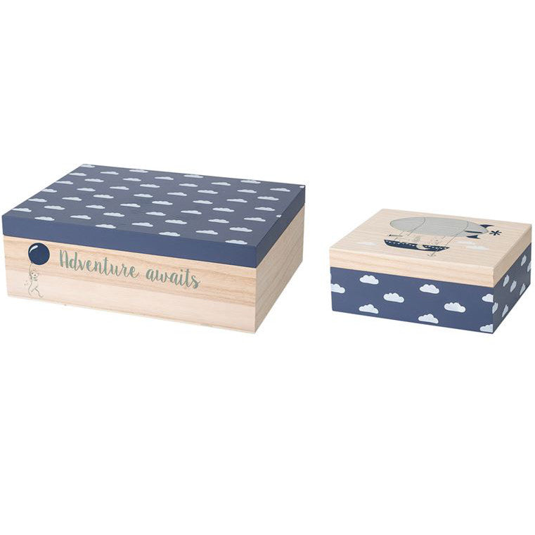 Bloomingville Adventure Wood Storage Boxes