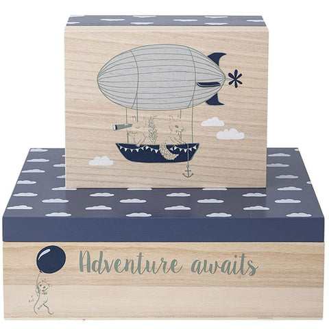 Bloomingville Adventure Wood Storage Boxes, Set of 2