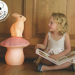 Egmont Large Mushroom Lamp, Light Pink