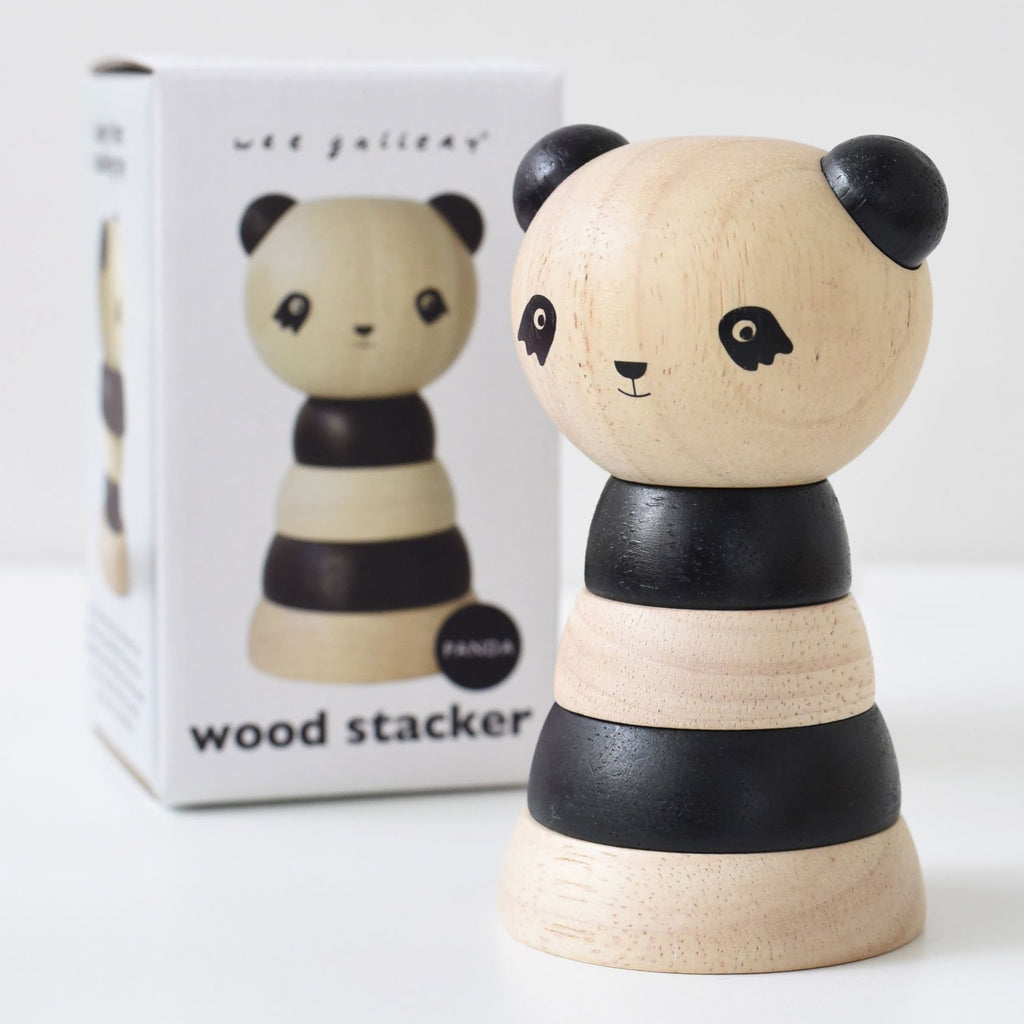 Wee Gallery Wood Stacker, Panda