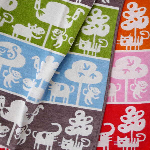 Klippan Organic Cotton Blanket from Sweden, Safari