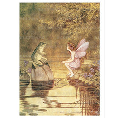 Frog and Fairy Giclee Art Print