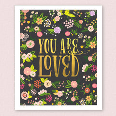 You are Loved Art Print, Black, 8 x 10