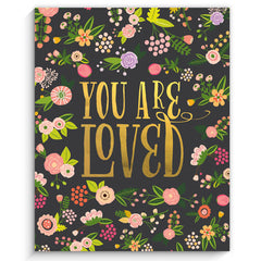 You are Loved Art Print, Black
