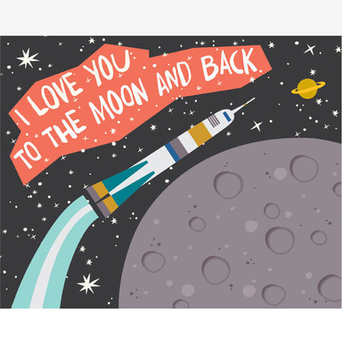 Rocket To the Moon Art Print, 11x 14
