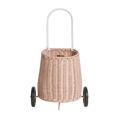 Olli Ella Luggy Wheeled Basket, Rose