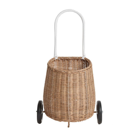 Olli Ella Lugo Wheeled Basket, Natural