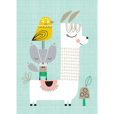 Petit Monkey Lama and Friends Poster by Suzy Ultman